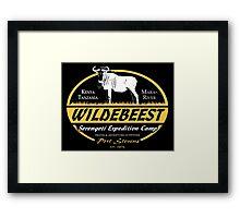 Serengeti Wildebeest Framed Print