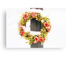 Snow Wreath Canvas Print