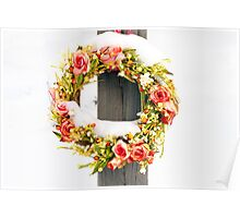 Snow Wreath Poster