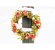 Snow Wreath Photographic Print