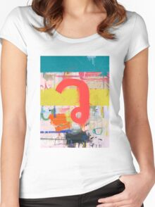"Thai Characters ""ว"" Women's Fitted Scoop T-Shirt"