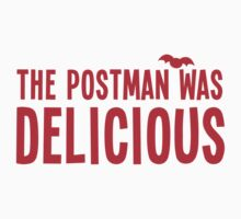 The postman was DELICIOUS! funny Halloween shirt Kids Clothes