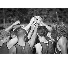 """Go Team"" -pulling together as a team (b/w) Photographic Print"