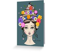 Floral She Greeting Card