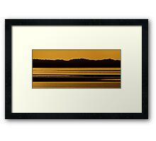 Hillside Glow Framed Print