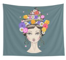 Floral She Wall Tapestry