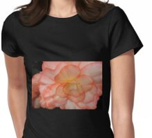 Begonia in Shades of Apricot Womens Fitted T-Shirt