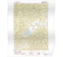 USGS Topo Map Oregon Triangle Lake 281868 1984 24000 Poster