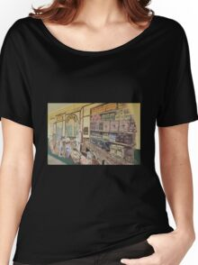 Mural - T & W Johnson - Grocer Women's Relaxed Fit T-Shirt