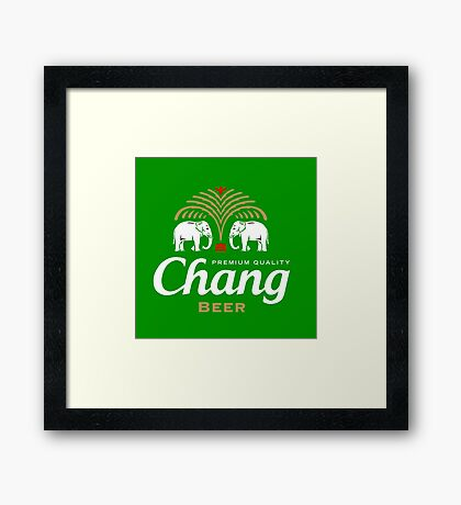Chang Beer Thailand Framed Print