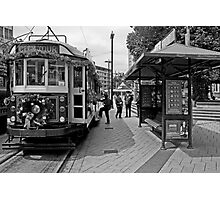 Christmas Tram - Christchurch New Zealand Photographic Print