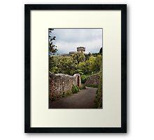 Volterra's castle prison Framed Print