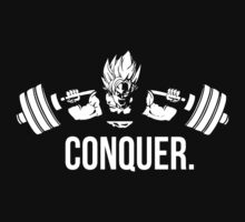CONQUER - Super Saiyan Goku Squat by oolongtees