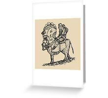 Lonely rider Greeting Card