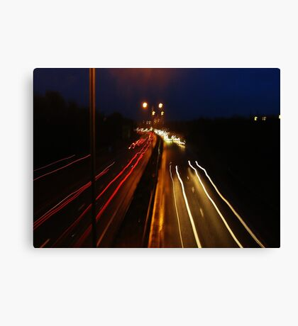 Driving Lines Canvas Print