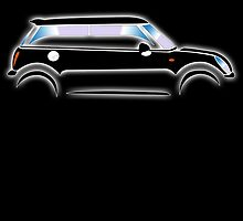 BLACK MINI, Mini Car, MINI, BMW, BRITISH ICON, MOTORCAR by TOM HILL - Designer