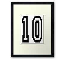 10, TEAM SPORTS NUMBER, TEN, TENTH, Competition Framed Print