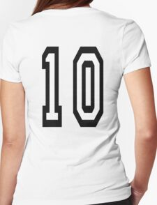 10, TEAM SPORTS NUMBER, TEN, TENTH, Competition T-Shirt