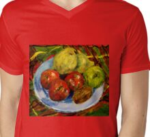 Still life with fruit Mens V-Neck T-Shirt