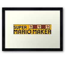 Super Mario Maker Framed Print