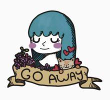 Go Away Banner Girl by Elliott Day