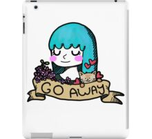Go Away Banner Girl iPad Case/Skin