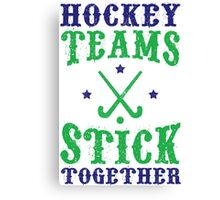 Field Hockey Teams Stick Together Canvas Print