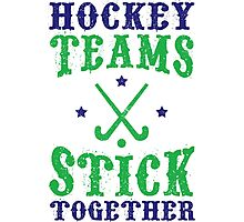 Field Hockey Teams Stick Together Photographic Print