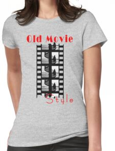 Old Movie Style 1 Womens Fitted T-Shirt