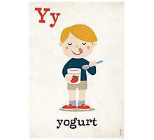 Y is for YOGURT Photographic Print