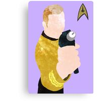 Captain Kirk Poster Canvas Print