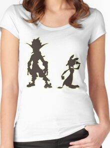 Jak and Daxter: The Precursor Legacy Silhouette Women's Fitted Scoop T-Shirt