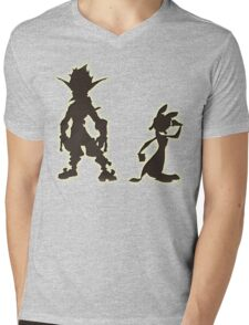 Jak and Daxter: The Precursor Legacy Silhouette Mens V-Neck T-Shirt