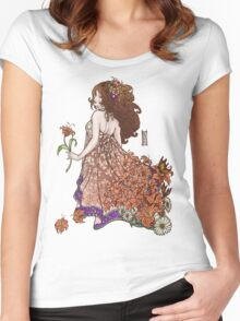Lily - Flower Girls Series Women's Fitted Scoop T-Shirt