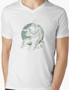 No Music Mens V-Neck T-Shirt