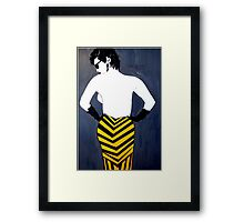 BLACK AND YELLOW  DRESS Framed Print