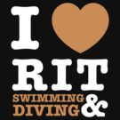 I Heart RIT Swimming & Diving by dfur