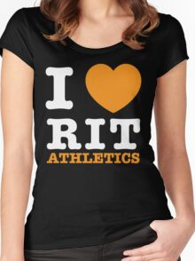 I Heart RIT Athletics Women's Fitted Scoop T-Shirt