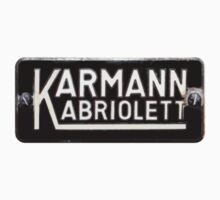 Classic 1955 VW Karmann Kabriolett emblem by Tim Oliver Photography