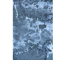 blue grunge texture Photographic Print
