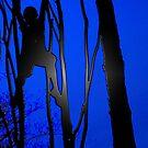 blue boy hanging by grarbaleg