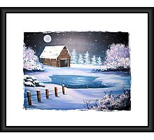 The Old Barn in Winter Photographic Print