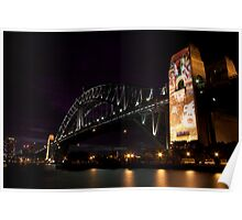 Sydney Harbour Light Show Poster