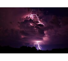 Lightning strike enlarged Photographic Print