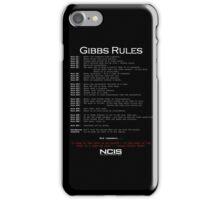NCIS - GIBBS RULES  iPhone Case/Skin