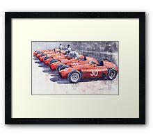 Team Lancia Ferrari D50 type C 1956 Italian GP Framed Print