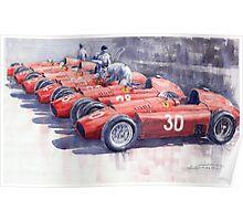 Team Lancia Ferrari D50 type C 1956 Italian GP Poster