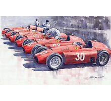 Team Lancia Ferrari D50 type C 1956 Italian GP Photographic Print