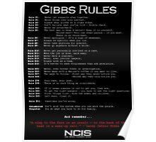 NCIS - GIBBS RULES  Poster