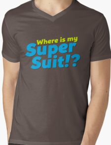 Where is my Super Suit!? Mens V-Neck T-Shirt